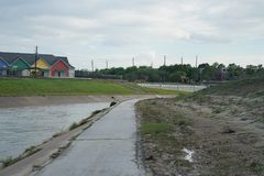 Hurricane Harvey Impacts. Aftermath. Views of watershed and bayou areas impacted by Harvey Royalty Free Stock Photography