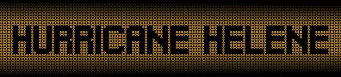 Hurricane Helene text on hurricane signs illustration royalty free stock image
