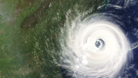 Hurricane hitting the East Coast of the USA Stock Images