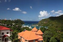 Hurricane Hole, Marigot Bay, St. Lucia, Caribbean Stock Images