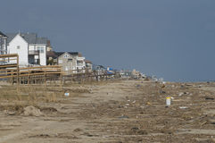 Hurricane Ike Aftermath. Debris on the beaches of Galveston, Texas, left behind by Hurricane Ike after it struck the Texas Gulf Coast last month Royalty Free Stock Photography