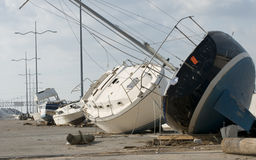 Hurricane Ike Destruction. On the streets of Galveston, Texas Stock Photography