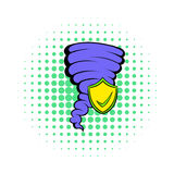 Hurricane insurance icon, comics style Royalty Free Stock Image