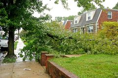 Hurricane Irene aftermath in the Philadelphia area Royalty Free Stock Image