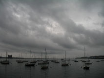 Free Hurricane Irene Approaches Boston Harbor Royalty Free Stock Image - 20895886