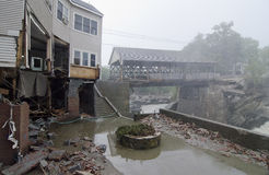 Hurricane Irene damages Quechee Stock Image