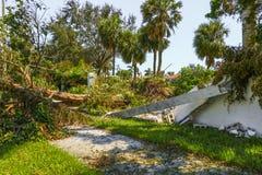 Hurricane Irma Damage. Beach, Florida, Palm beach Stock Photo