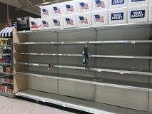 Hurricane Irma. Grocery store in Summerville South Carolina, runs out of water as Hurricane Irma approaches Stock Image