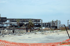 Hurricane Katrina. Remains of Biloxi casino after hurricane Katrina Royalty Free Stock Photos