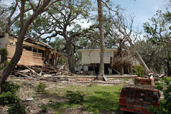 Hurricane Katrina. Homes destroyed by hurricane Katrina in Biloxi Stock Photo