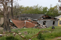 Hurricane Katrina Destruction. House damaged by hurricane Katrina stock images