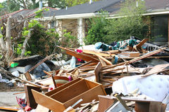Hurricane Katrina2. Flood and wind damage Stock Photo