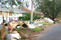 Hurricane Katrina5. Flood and wind damage Stock Photos