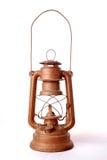 Hurricane lamp on white Stock Photos