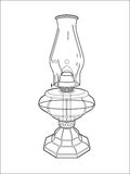 Hurricane lamp line art Stock Image