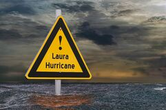 Free Hurricane Laura, Storm And Flood Concept. 3D Rendering Stock Image - 194616351