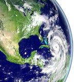 Hurricane Matthew in Caribbean. Huge hurricane Matthew in Caribbean. 3D illustration. Elements of this image furnished by NASA Stock Image