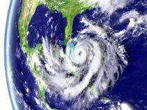 Hurricane Matthew. Enormous hurricane Matthew heading towards Florida, USA. 3D illustration. Elements of this image furnished by NASA Stock Photo