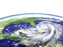 Hurricane Matthew. Enormous hurricane Matthew near Florida in America. 3D illustration. Elements of this image furnished by NASA Stock Photos