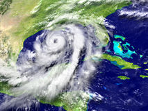 Hurricane Matthew. Huge hurricane Matthew near Florida in America. 3D illustration. Elements of this image furnished by NASA Stock Photography