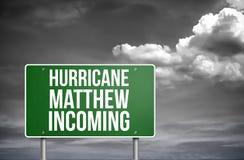 Hurricane Matthew incoming Stock Photo