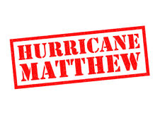 HURRICANE MATTHEW. Red Rubber Stamp over a white background Royalty Free Stock Images