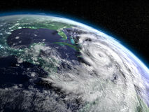 Hurricane Matthew from space Stock Photography