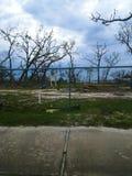 Hurricane Michael Damage abandoned playground stock photos