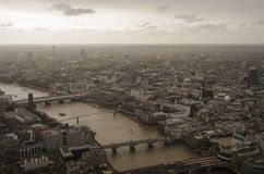 London during Ophelia Storm. Hurricane Ophelia known as Storm Ophelia in Ireland and the United Kingdom while extratropical was the easternmost Atlantic major Stock Photos