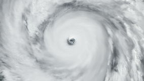 Hurricane Overhead Satellite View stock footage