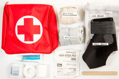 Hurricane Preparedness, First Aid (Editorial) Stock Photo