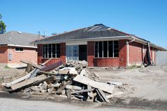Hurricane Ravaged House Royalty Free Stock Images