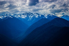 Hurricane Ridge mountain range landscape in Olympic National Park Royalty Free Stock Photo