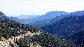 Hurricane Ridge, Olympic National Park, WASHINGTON USA - October 2014: A panoramic view on the Peninsula mountains Royalty Free Stock Photo
