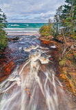Hurricane River Meets Lake Superior Stock Image