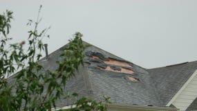 Hurricane roof damage, Houston texas Stock Photo