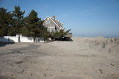 Hurricane Sandy Aftermath. Aftermath of super storm Sandy at Long Beach Island, NJ Stock Image