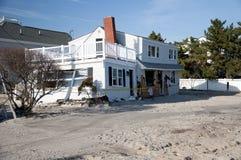 Hurricane Sandy aftermath. House damage from Hurricane Sandy at Long Beach Island, NJ. Taken November 17, 2012 Stock Photos