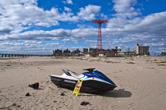 Hurricane Sandy Aftermath. Coney Island, New York 2012 Stock Photos
