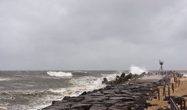 Hurricane Sandy Approaches New Jersey Shore Royalty Free Stock Images