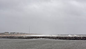 Hurricane Sandy Approaches New Jersey Shore Stock Photography