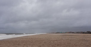 Hurricane Sandy Approaches New Jersey Shore Stock Image