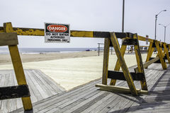 After Hurricane Sandy: Asbury Park, New Jersey Stock Image