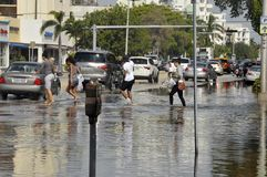 Hurricane Sandy Stock Images