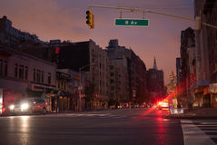 Hurricane Sandy in New York City Royalty Free Stock Photo