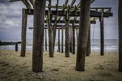 After Hurricane Sandy: Ocean Grove, New Jersey Fishing Pier 2 Royalty Free Stock Photos