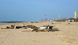 Hurricane Sandy's Aftermath Stock Photography