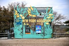 Hurricane Sandy's Aftermath. Among the casualties of Hurricane Sandy was the New York Aquarium, in Coney Island, Brooklyn, which shuts down indefinitely Royalty Free Stock Image