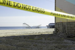 After Hurricane Sandy:  Seaside Heights, NJ Stock Photography