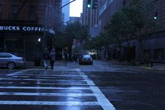 Hurricane Sandy shuts down New York City Royalty Free Stock Photo